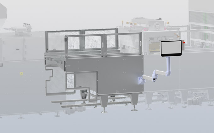 Drive unit for transport of starch trays